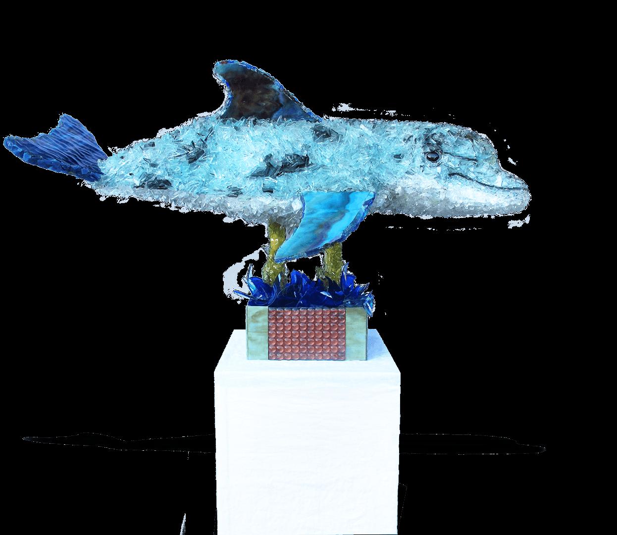 Hoaloha Dolphin Sculpture
