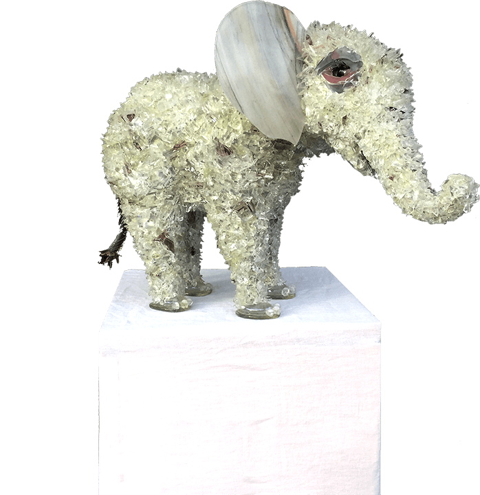 Nine Elephant Sculpture