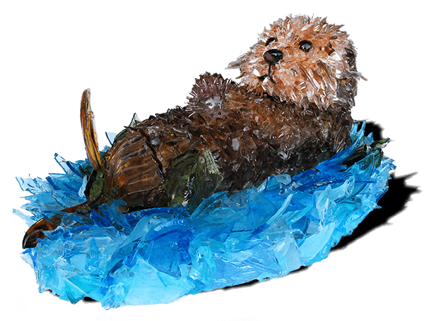 Pup Otter Sculpture