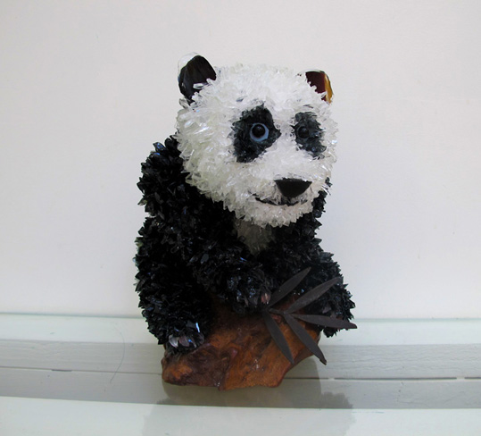 Chi Panda glass sculpture