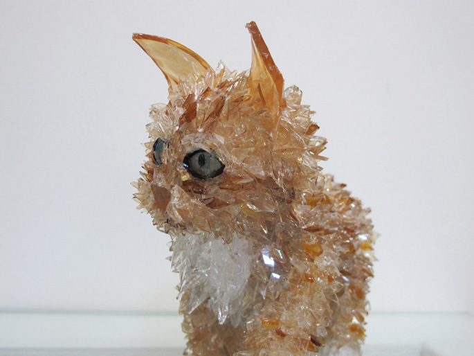 Dario custom cat portrait sculpture
