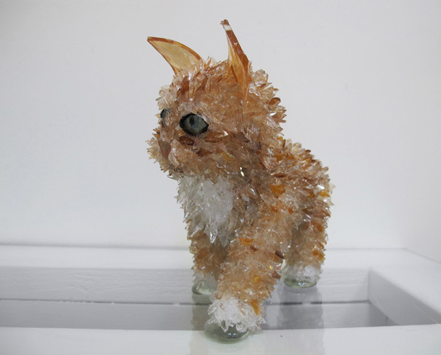 Dario Orange Tabby glass sculpture