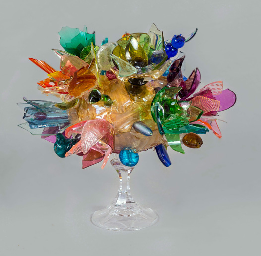 Delicious Sharp Abstract Flower glass sculpture