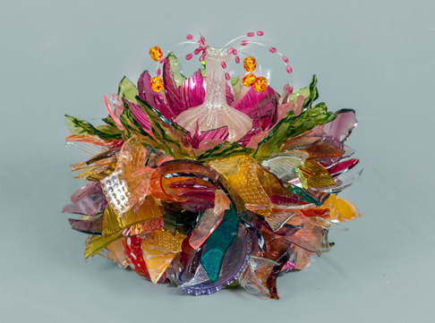 Fairy Cake Large Abstract Flower glass sculpture