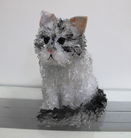 Hattie Cat glass sculpture