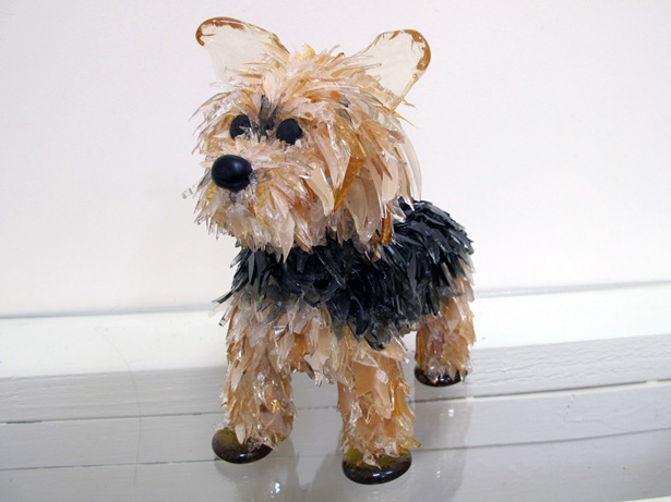 Lolly Yorkie glass sculpture