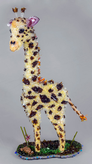 Lula Giraffe glass sculpture