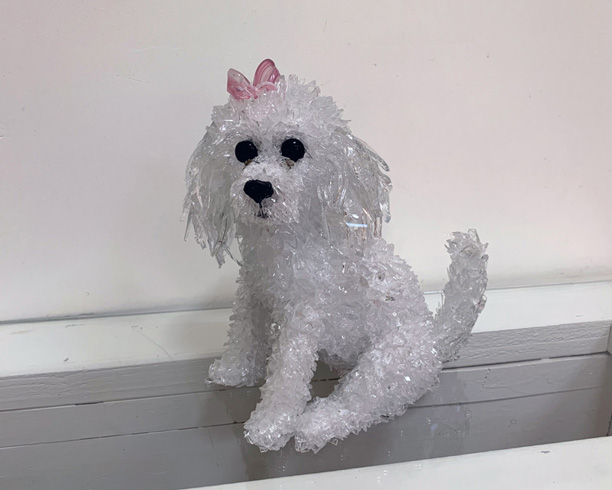 Piper The Poodle new dog sculpture