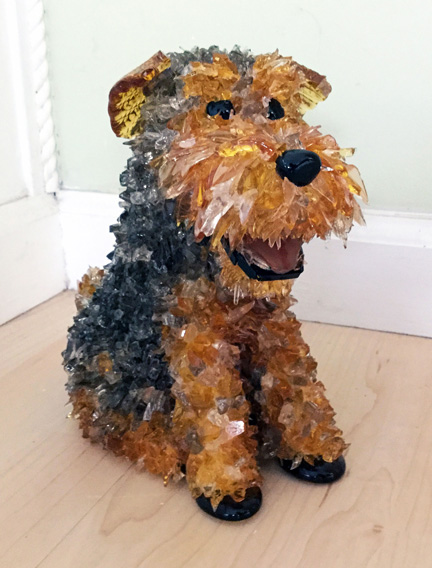 Riley Welsh Terrier glass sculpture