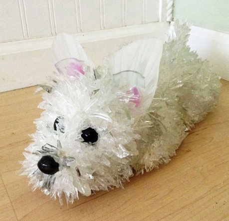 Salty West Highland Terrier glass sculpture