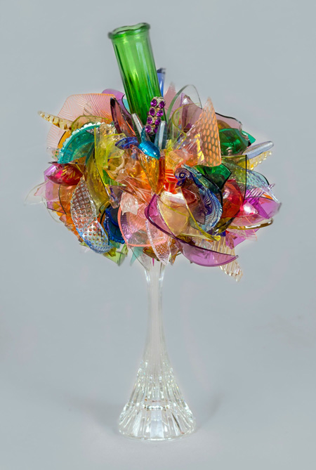 Serendipity Twisted Abstract Flower glass sculpture