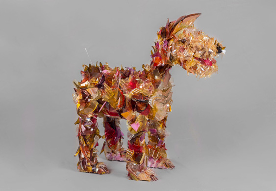 Skippy Yorkshire Terrier glass sculpture