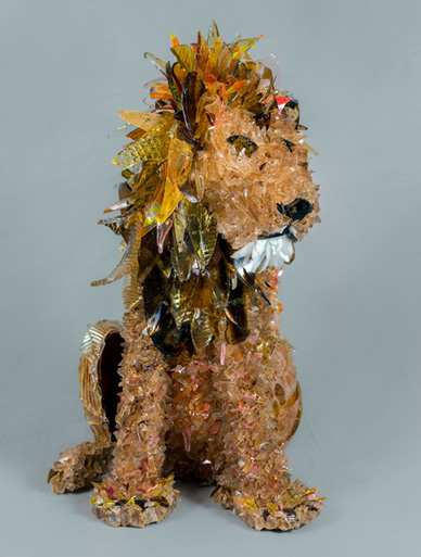 Tau Lion glass sculpture